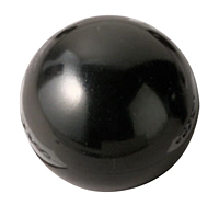 BALL KNOB THERMOSET BLACK W/FEMALE INSERT, M8 X 1.25 THREAD .500 DEPTH