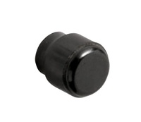 MINI CLAMP CLAMPING KNOB THERMOSET BLK; 0.44DIA 0.75 HT 0.375HUB  6-32 MT DIA 0.25 DPH FEMALE INSERT