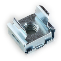 3/8-16 CAGE NUTS STEEL ZINC ELECTROPLATE, PANEL RANGE .240-.260 (C30096-3816-3B)